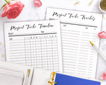 2 Project Tasks Tracker Printables