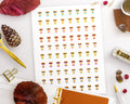 Pumpkin Spice Latte Printable Planner Stickers