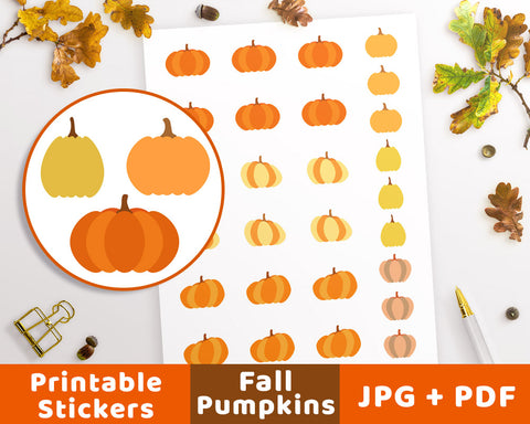 Pumpkin Fall Planner Stickers - The Digital Download Shop