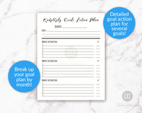 Quarterly goals action plan printable