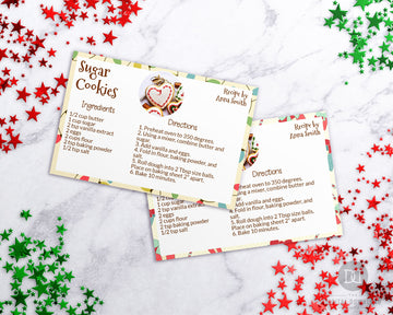 Photo Christmas Recipe Card Printable *EDIT ONLINE*
