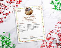 Christmas Recipe Sheet Template Printable