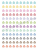 Recycling Symbol Printable Planner Stickers- The Digital Download Shop