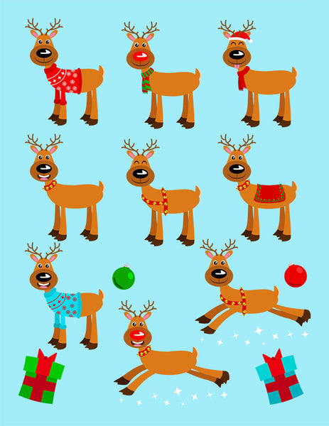 Holiday Reindeer Clipart