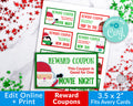 Christmas Kids Coupon Template Printable *EDIT ONLINE*