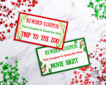 Christmas Reward Coupon Template- Watercolor