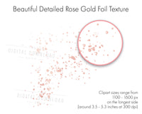 Rose Gold Splatters Clipart