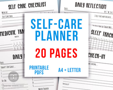 Self-Care Planner Printables Bundle