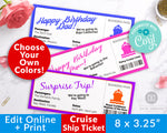 Cruise Ship Ticket Template Printable