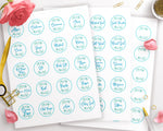 "Printable Spice Jar Labels 1.5"" Circles- Watercolor Leaf"
