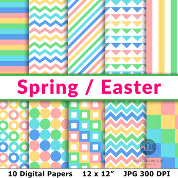 Spring / Easter Digital Papers