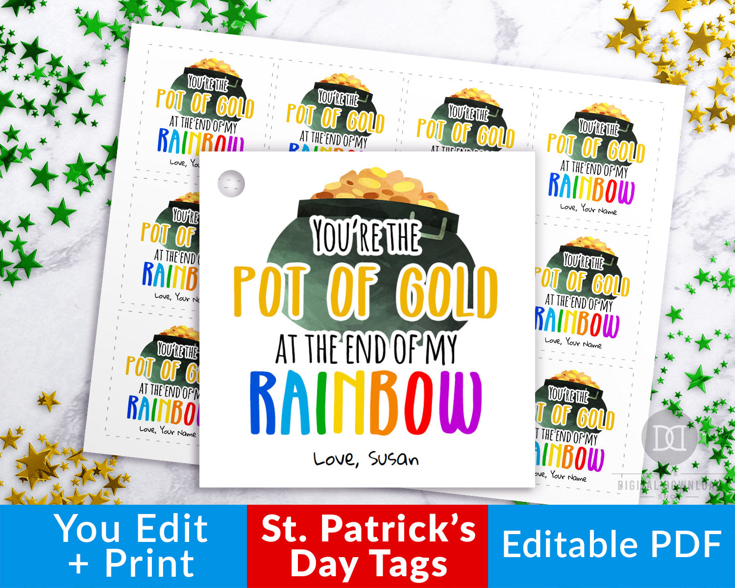 St. Patrick's Day Tag Printable- Pot of Gold