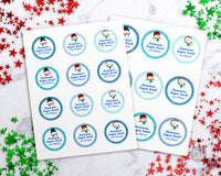 Snowman Sugar Scrub Labels Editable Printable