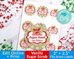 Sugar Scrub Labels- Vanilla Editable Printable