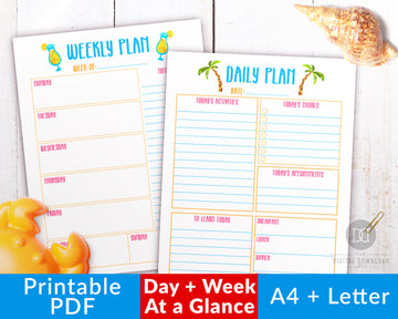 Summer Daily + Weekly Planners