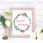 Sweet Dreams Nursery Printable- The Digital Download Shop