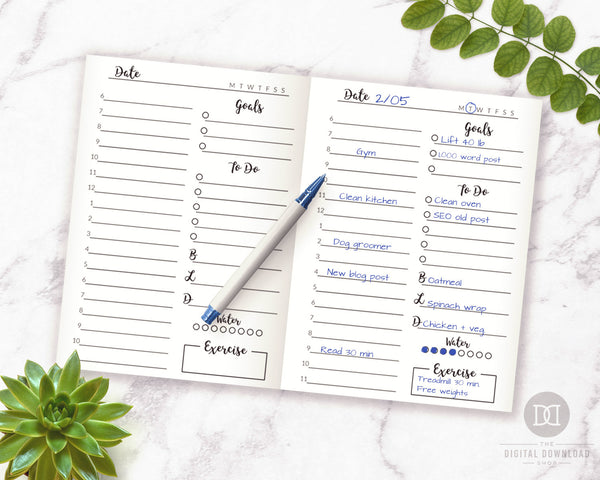 TN Passport Daily Planner Printable- The Digital Download Shop