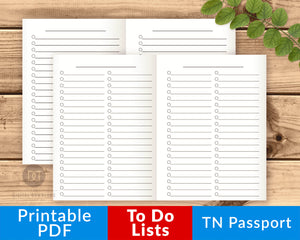 TN Passport To Do Lists Printable- The Digital Download Shop