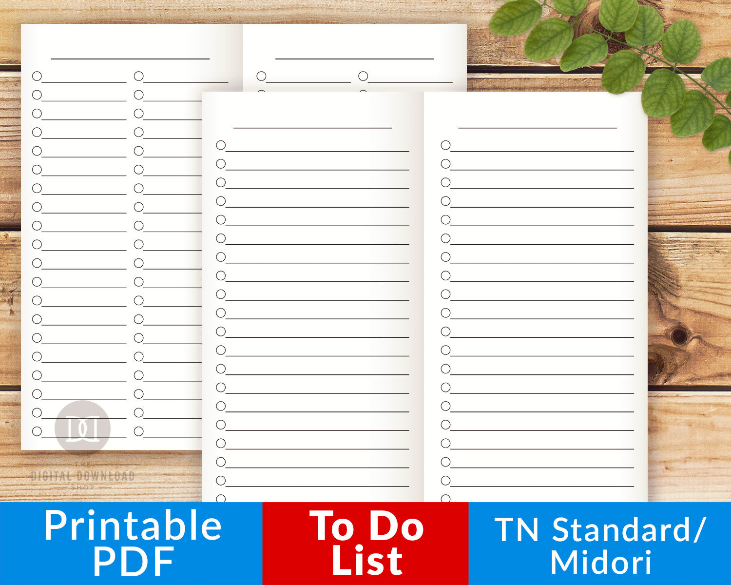 picture regarding To Do List Printables identify TN Conventional/Regular monthly/Midori Toward-Do Lists Printables