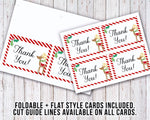 Printable Christmas thank you cards with a cute reindeer! These printable holiday thank you notes are a lovely way to thank friends and family for their generous gifts this holiday season.