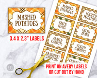 Thanksgiving Labels Template Printable- Large