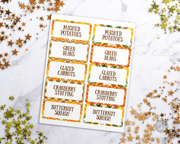 Thanksgiving Labels Printable- Narrow *EDIT ONLINE*