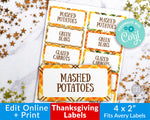 Thanksgiving Labels Printable- Narrow
