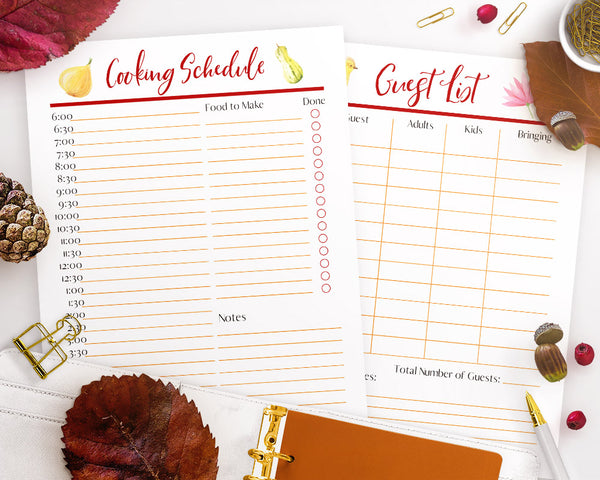 Thanksgiving Planner Printable