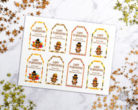 Editable + Printable Thanksgiving Favor Tags- These tags are the perfect way to send home Thanksgiving leftovers or to finish off your Friendsgiving party favors! | Thanksgiving leftovers tags, Thanksgiving printable, #Thanksgiving #favorTags #printable #DIY #DigitalDownloadShop