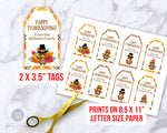 Thanksgiving Tags Printable- Turkeys