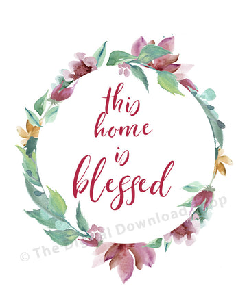 This Home is Blessed Printable- Purple