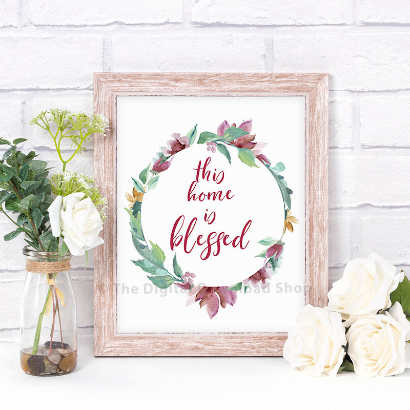 This Home is Blessed Printable- Purple- The Digital Download Shop