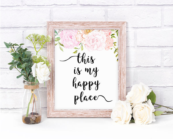 This is My Happy Place Printable Typography Art