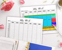 Time Blocking Planner Printable- Weekly
