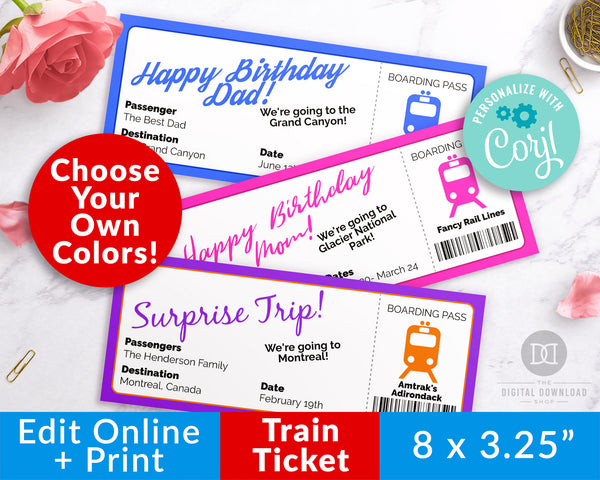 Train Ticket Template Printable