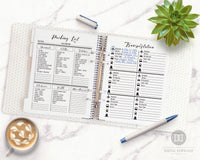 Travel planner printable bundle with 16 helpful pages! Use these vacation planner printables to prepare for your trip and keep track of important information!