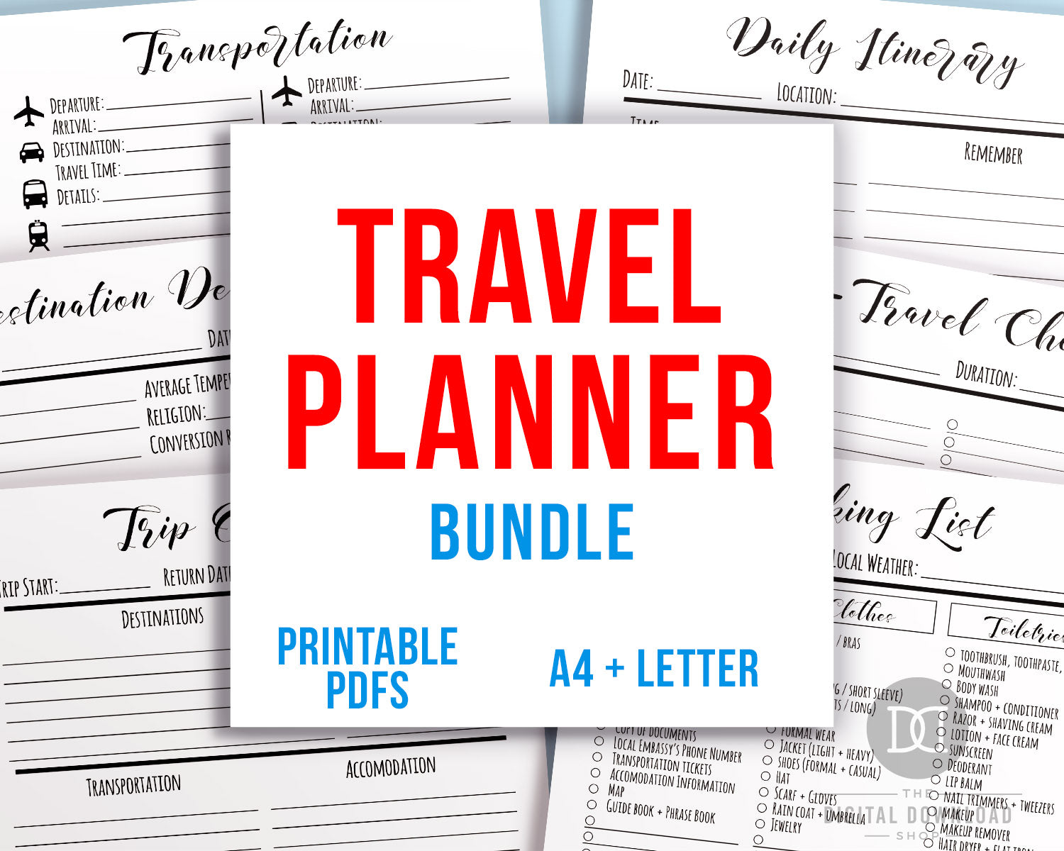 graphic relating to Travel Planner Printable named Drive / Holiday Planner Printable Deal