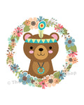 Tribal Bear Nursery Printable