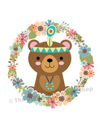 Tribal Bear Nursery Printable- The Digital Download Shop