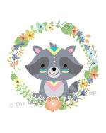 Tribal Raccoon Nursery Printable- The Digital Download Shop