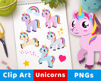 Unicorn Clipart- The Digital Download Shop