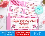 Kids Valentine's Day Coupon Book Template