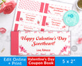 Love Coupons Editable Printable *EDIT ONLINE*