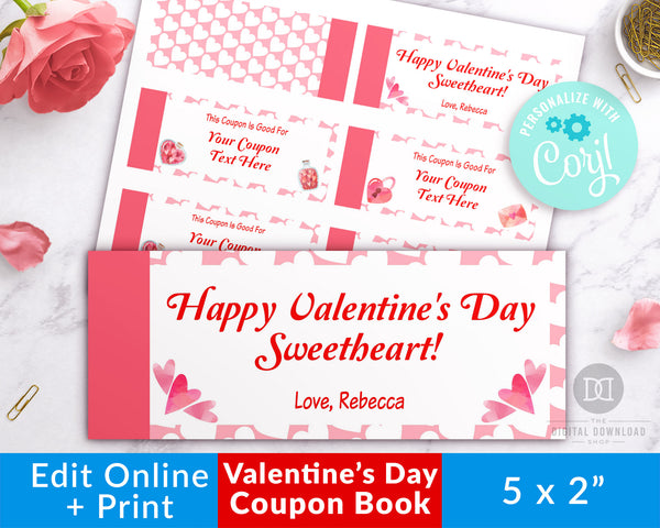 Love Coupons Editable Printable
