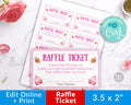 Valentine's Raffle Ticket Editable- Desserts *EDIT ONLINE*