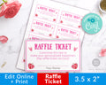 Valentine's Raffle Ticket Printable- Love Potion *EDIT ONLINE*