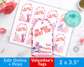 Kids Valentine's Day Tags Template- Animals *EDIT ONLINE*