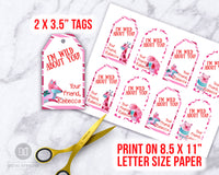 Kids Valentine's Day Tags Template- Animals