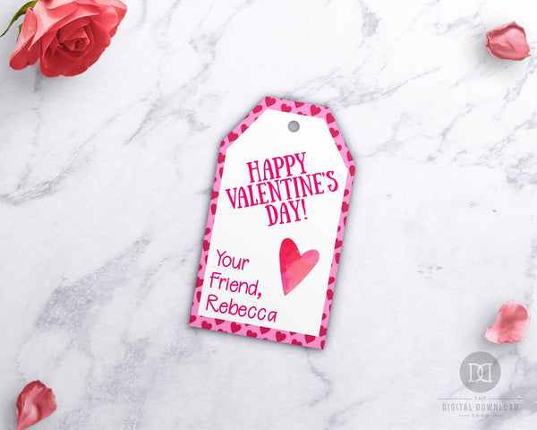 Valentine's Day Tags Printable- Hearts
