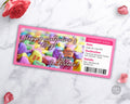 Valentine's Day Event Pass Printable- Conversation Hearts *EDIT ONLINE*
